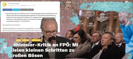 Gedenktag Mai 2018 Hofburg - Anze Ede im Ortlaut - Michael Köhlmeier