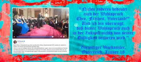 Heinz Christian Strache zurzeitiger Vizekanzler - Ehre Freiheit Vaterland - Jänner 2018