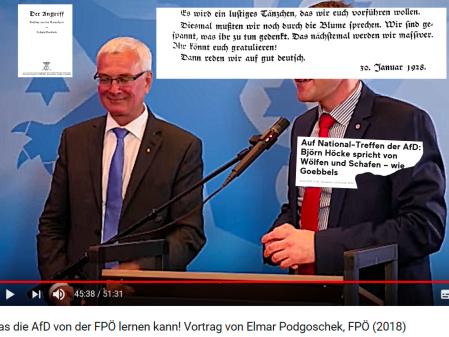 Auf gut deutsch - AfD - FPÖ - Goebbels - Höcke - Mölzer