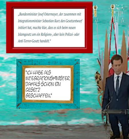 Sebastian Kurz - Ich habe als Integrationsminister damals schon ein Gesetz geschaffen - Juni 18