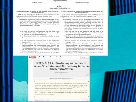 Strafrechtsänderungsgesetz Entwurf Anti-Terror-Gesetz Österreich 18 - Gummiparagraphen