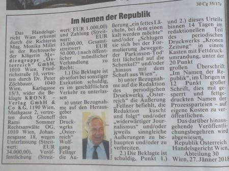 Wolfgang Fellner - Hinaus mit dem Schuft