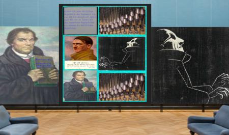 Blinder Organist spielt Orgelpfeife
