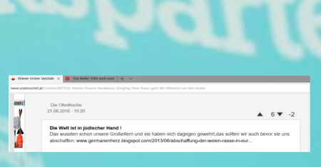 FPÖ unzensuriert - Die Welt ist in jüdischer Hand - wussten Großeltern und haben - 21-08-18