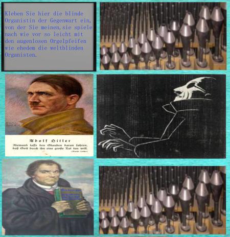 Orgelpfeifen lassen sich von einem blinden Organisten spielen