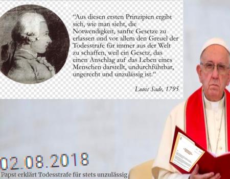 Papst erklärt Todesstrafe für unzulässig