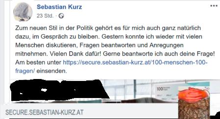 Sebastian Kurz sichern