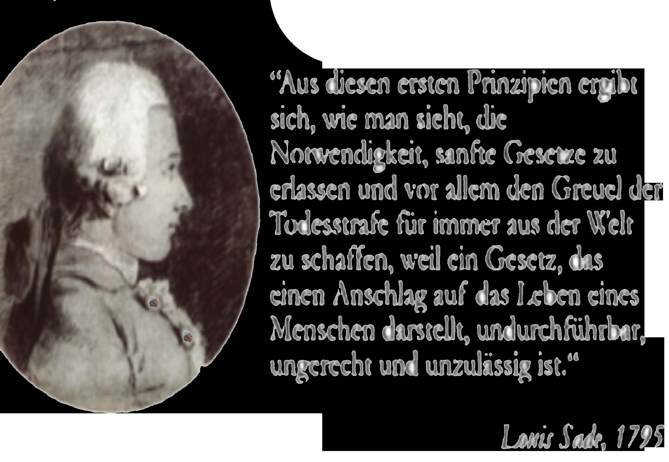 Todesstrafe unzulässig - Papst Franziskus - Was bereits de Sade wußte dafür braucht Vatikan 223 Jahre.png