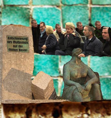Denkmal für Trümmerfrauen auf der Mölker Bastei
