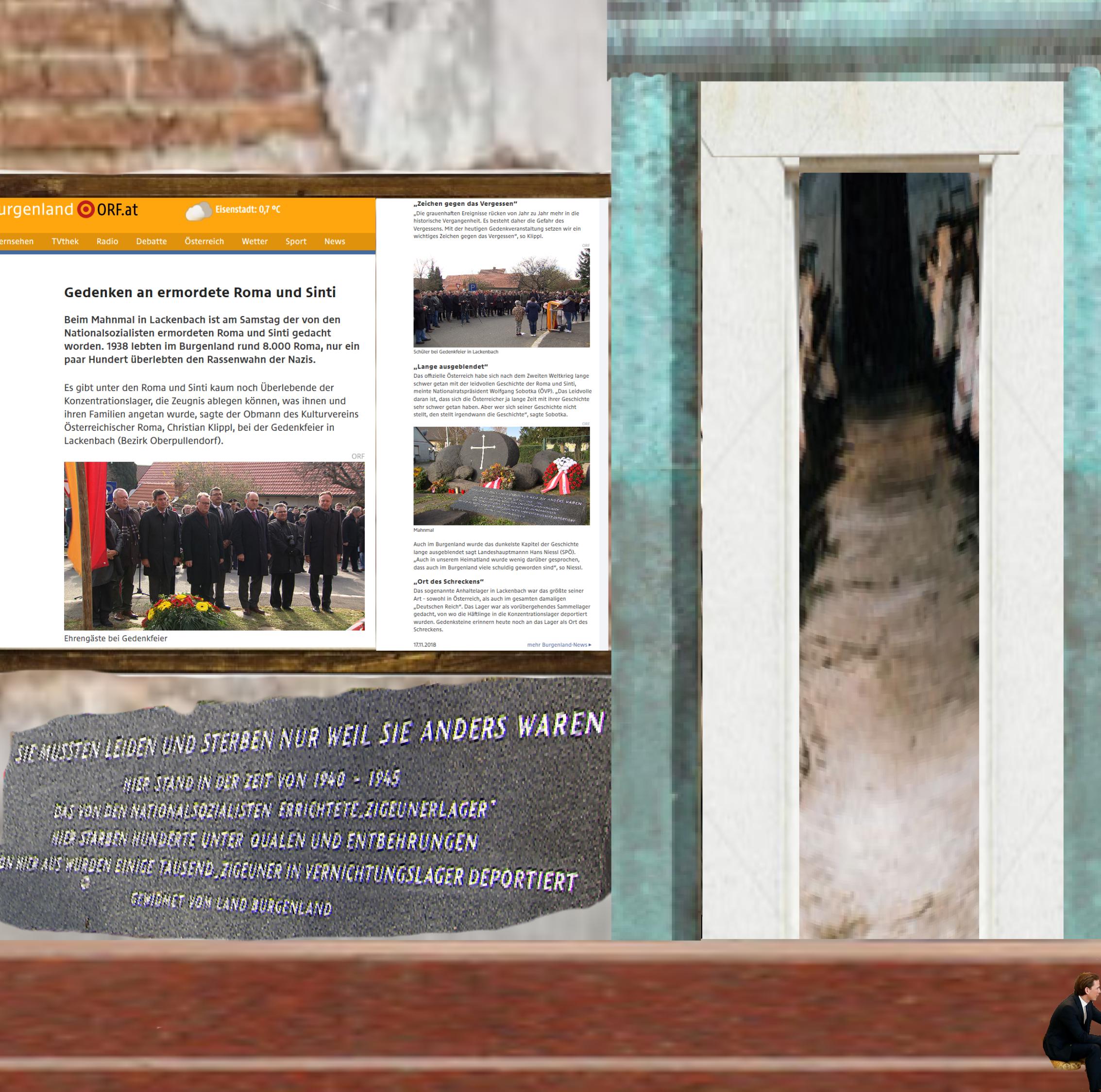 Gedenken an ermordete Sinti und Roma - Lackenbach - November 18