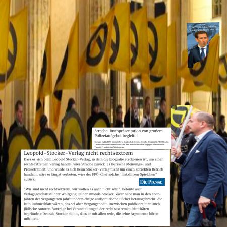 HC Strache stimmt traurig die Demonstration - Nicht rechtsextrem