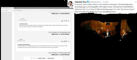 Sebastian Kurz - Bundeskanzler - bespricht mit seinen Exeperten Rahmenbedingungen und Maßnahmen