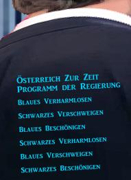 Programm ÖVP FPÖ - Verschweigen - Verharmosen - Beschönigen