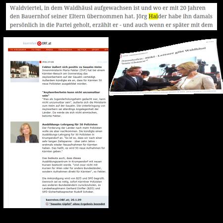Saualm - Drasenhofen - Fekter - Mikl-Leitner - Kickl